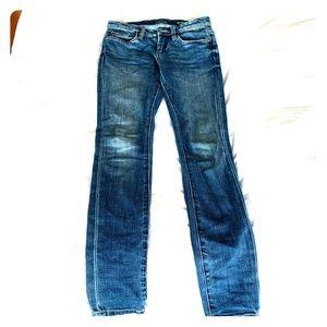 Blank NYC faded wash indigo skinny jeans